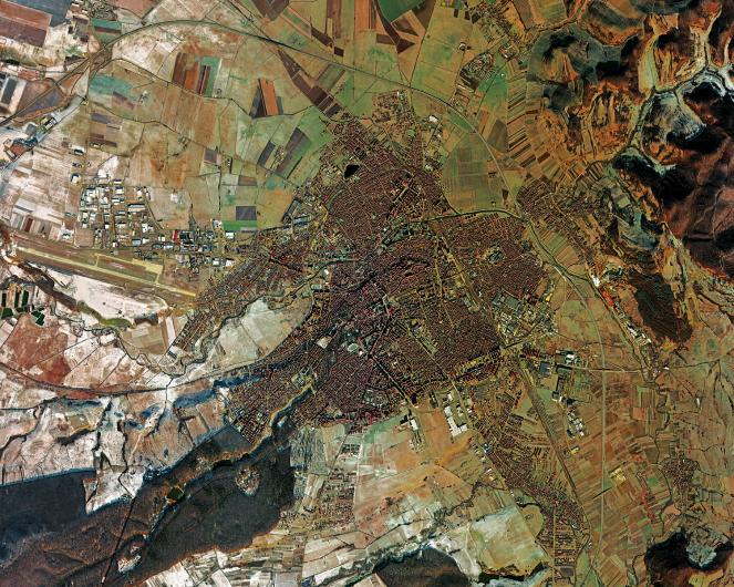 An overview of Sibiu, founded in 1190 by the Saxons of Transylvania. The city is known for the Germanic architecture of its historic center and has numerous records such as the oldest hospital in Romania (1292), the first documented school (1380) and the first theater (1788). Deimos-2 image ©Deimos Imaging, an UrtheCast Company