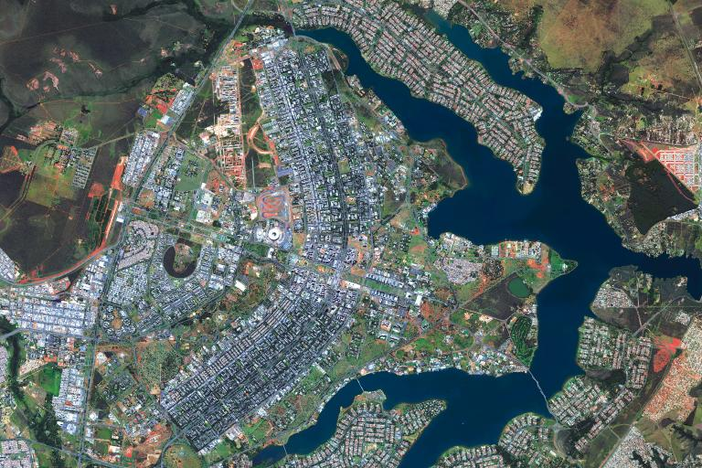 Brasilia, the federal capital of Brazil  (WorldView-3 image © DigitalGlobe)