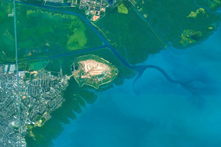 Mangrove, Guanabara Bay  (WorldView-3 image © DigitalGlobe)