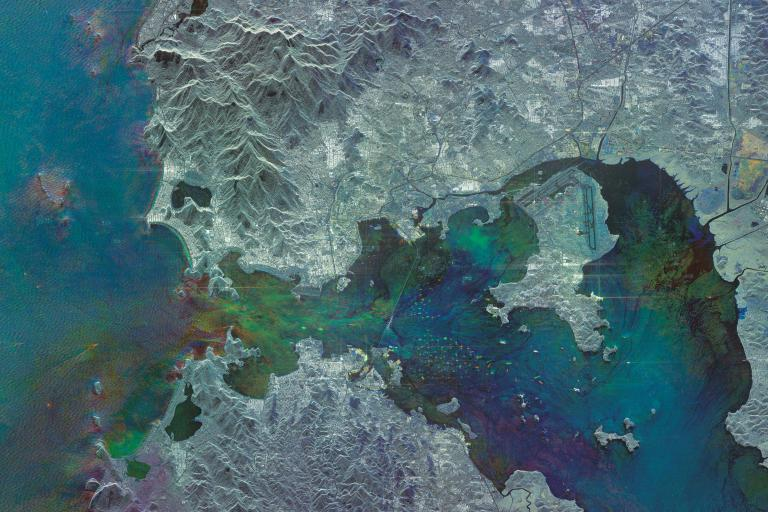 Guanabara Bay, Rio de Janeiro (COSMO-SkyMed image ©ASI, Processed and distributed by e-GEOS)