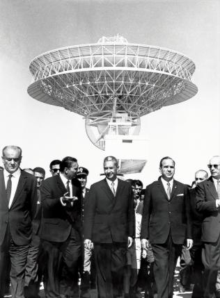 28 September 1967 - Italian Prime Minister Aldo Moro - officially inaugurates the Fucino Space Centre