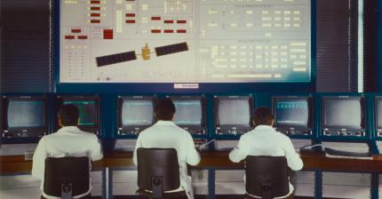 1978 - Telemetry, Command and Control room for INTELSAT satellites - at the Fucino Space Centre