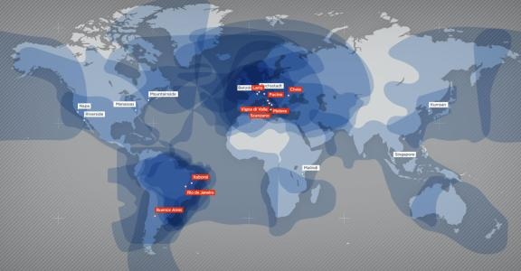 Global Satellite Communication service coverage