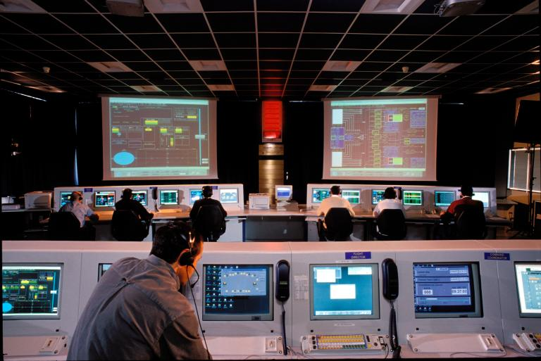 LEOP Control Room - Fucino Space Centre